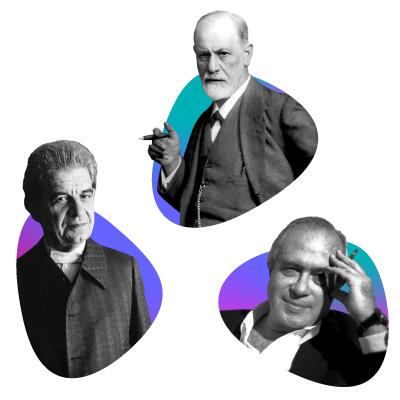 Sigmund Freud, Jacques Lacan y Jacques-Alain Miller, padres del psicoanálisis